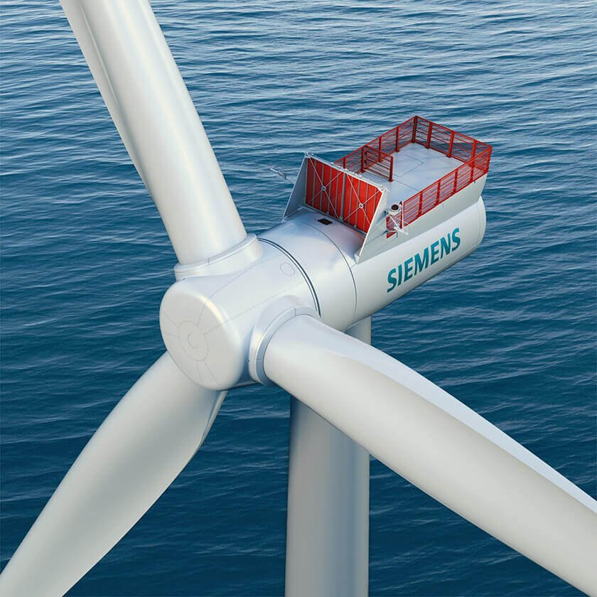 Photo of Siemens offshore wind turbine